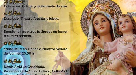 """Actos en """"Nueva Normalidad"""": Fiestas en honor a la Virgen del Carmen de Arafo, 2020"""