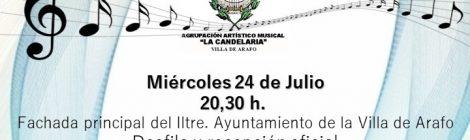 Recepción oficial de la AAM La Candelaria en Arafo
