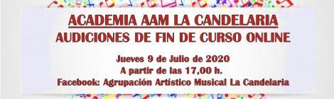 Audiciones de Fin de Curso 2019-2020. Academia AAM La Candelaria