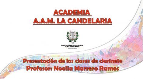 Los profesores de la Academia AAM La Candelaria (III): Noelia Marrero Ramos (Especialidad: clarinete)