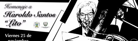 """Homenaje a Haroldo Santos """"Lito"""" en el día de Santa Cecilia"""